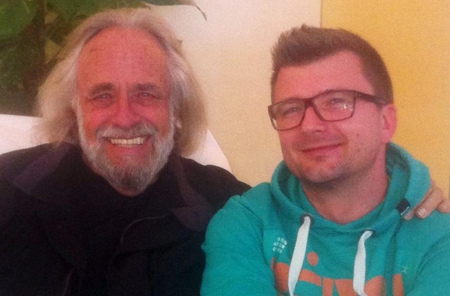 James Swartz und Tom nach dem 5 Tages Vedanta Workshop im Yoga Vidya Ashram im Westerwald Anfang 2013