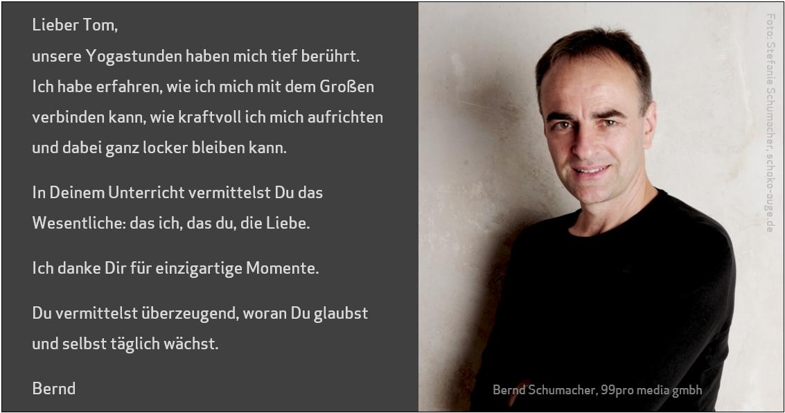 Referenz Bernd Schumacher 99 pro media gmbh